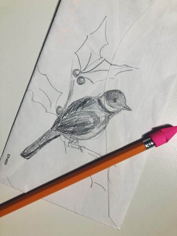 Sketching just takes a pencil
