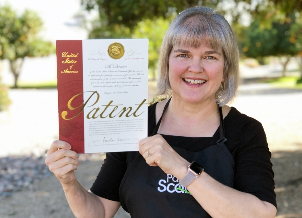 Gina with Patent