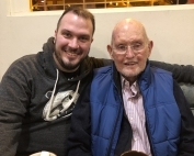 Grandson and grandfather together